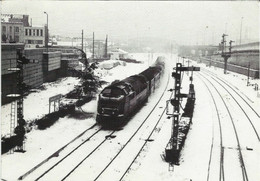 CHARLEROI OUEST Le 12.01.1982 - Locomotive 5105 - N'a Pas Circulé - Charleroi