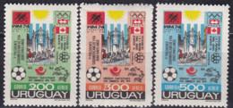 Uruguay, 1974, 1313/15,  Events And Congresses.. WM 74,  MNH ** - 1974 – Alemania Occidental