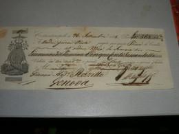 CAMBIALE 1838 COSTANTINOPOLI - Lettres De Change