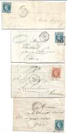 (ZZZ)- Y&T N°S 29 ET 31 SUR 9 LETTRES - 1853-1860 Napoleone III