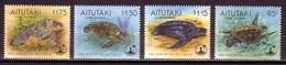 Turtle Turtles Aitutaki MNH 4 Stamps 1995 - Turtles