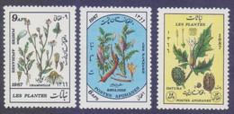Afghanistan 1987 - Medicinal Health Plants, 3 Stamps MNH - Afghanistan