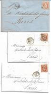 (ZZZ) - Y &T N°S 22 ET 23 SUR 14 LETTRES - 1853-1860 Napoleone III