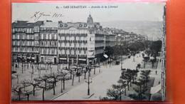 CPA. San Sebastian . Avenida De La Libertad.  (R1.937) - Guipúzcoa (San Sebastián)