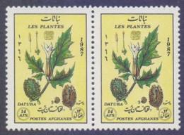 Afghanistan 1987 - Medicinal Health Plants, MNH PAIR - Afghanistan