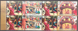 INDIA 2017, MY STAMP, SURAJKUND MELA (Fair), Set 2v ST With TABs TYPE I (Women) BLOCK OF 4,  Limited Edition, MNH(**) - Nuevos