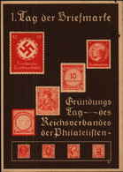 1. Tag Der Briefmarke, Gründungstag Reichsverband Der Philatelisten, Postkarte, Dresden 1936, Deutsches Reich, Militär - Guerra 1939-45