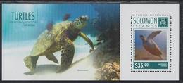 Turtle Turtles Solomon Islands MNH S/S Stamp 2014 - Turtles