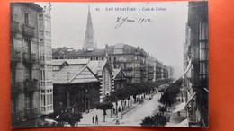 CPA. San Sebastian. Calle De Urbieta.  (R1.951) - Guipúzcoa (San Sebastián)