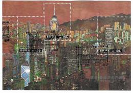 North Korea Hong Kong Back To China Feuille Obl - Corée Du Nord