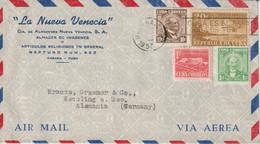 Cuba 1957 Lettre Par Avion Pour L'Allemagne - Covers & Documents