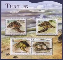 Turtle Turtles Solomon Islands MNH M/S Of 4 Stamps 2012 - Turtles