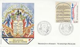 FDC 1989 SERIE DROITS DE L'HOMME - 1980-1989