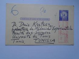 D179157 USA Meter Uprated Stationery-1962 Gainesville University Of Florida -Kenneth LIEBMAN To Dr.Denis Kertesz-Tunis - 1961-80