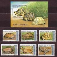 Turtle Turtles Togo MNH S/S+ 6 Stamps 1996 - Turtles