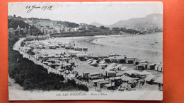 CPA. San Sebastian. Paseo Y Playa.   (R1.953) - Guipúzcoa (San Sebastián)