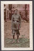 INDIA, A Bombay Policeman - Tinted Real Photo Postcard - India