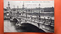 CPA.San Sebastian. Puente De Maria Cristina Y Fabrica De Yabacos.   (R1.955) - Guipúzcoa (San Sebastián)