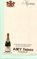 H0705 - AMY Frères - SAUMUR - Menus