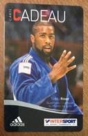 TEDDY RINER JUDO ADIDAS INTERSPORT CARTE CADEAU NO PHONECARD PAS TÉLÉCARTE GIFT CARD - Martial Arts