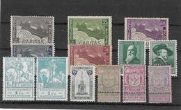 Belgien - Selt./ungebr. Serien Aus 1894/1930 - Aus Michel 61 Und 277! - Unused Stamps