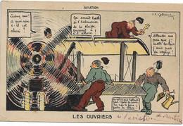 L50D285 - AVIATION - Les Ouvriers - Dessin Et Texte Humoristique - Garde à Vous - Humour