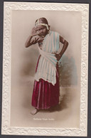 INDIA, Sallans From India Native Girl - Tinted Real Photo Postcard - India