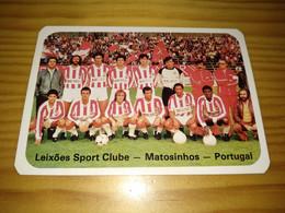 "Calendar Of Pocket  "" Futebol Soccer - Leixões Sport Clube, Matosinhos "" 1986 - Petit Format : 1981-90"