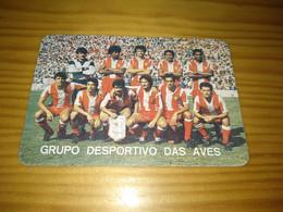 """Calendar Of Pocket  """" Futebol Soccer - Grupo Desportivo Das Aves """" 1986 - Petit Format : 1981-90"""