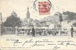 GERMANY - BAD KREUZNACH - VIEHMARKT - ED. DOES - 1906 - Bad Kreuznach