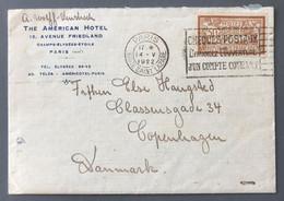 France N°120 Perforé BPC Sur Enveloppe (avec Corresponcance) 14.5.1922 Pour Copenhague, Danmark - (B3196) - 1877-1920: Periodo Semi Moderno