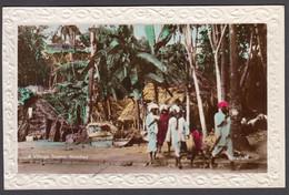 INDIA, A Village Scene Bombay  - Tinted Real Photo Postcard - India