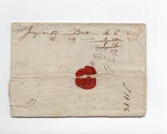 !!! DEBOURSE DE GENES SUR LETTRE DE 1816 AVEC TEXTE. UTILISATION DE LA MARQUE FRANCAISE - 1. ...-1850 Prefilatelia