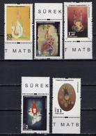 Turkey 2016. 5 Stamp.  MNH** - Unused Stamps
