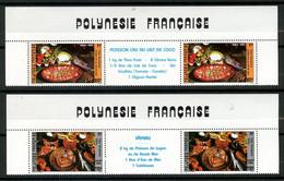 POLYNESIE 1986 N° 261A/262A ** Neufs MNH Superbes C 15,50 Plats Polynésiens Poissons Fishes Lait Coco Ingrédients Fafaru - Nuovi