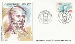 FDC 1989 AUGUSTIN CAUCHY - 1980-1989