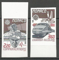 Monaco Yvert 1626/67 Série Complète Non-Dentelée NSC / MNH / ** Europa 1988 Espace Space Satellite Train - Varietà