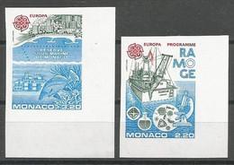 Monaco Yvert 1520/21 Série Complète Non-Dentelée NSC / MNH / ** Europa 1986 Poissons Fish Bateaux - Varietà