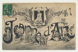 ORLEANS - Carte Fantaisie Multivues - Inscription Jeanne D'Arc - Orleans