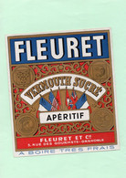 H0705 - Etiquette - FLEURET - VERMOUTH SUCRE - APERITIF - GRENOBLE - Pubblicitari