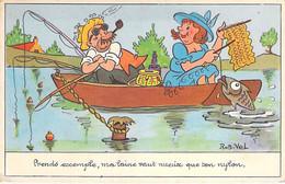 HUMOUR ( PECHE A LA LIGNE ) Prends Exemple, Ma Laine Vaut Mieux Que Ton Nylon ... - CPSM  Petit Format Humoristique - - Humor