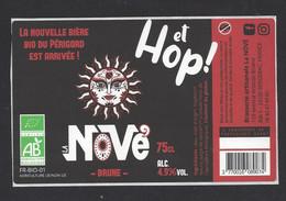 Etiquette De Bière Brune  -  Et Hop  -  Brasserie La Nôvé à Bergerac  (24) - Beer