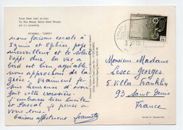 - Carte Postale ISTANBUL (Turquie) Pour SAINT-DENIS (France) 3.7.1970 - Bel Affranchissement Philatélique - - Covers & Documents