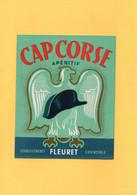 H0705 - Etiquette - CAP CORSE - Apéritif - ETS FLEURET - GRENOBLE - Pubblicitari