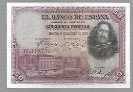 Espagne Velasquez - 50 Pesetas