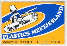 AUTOCOLLANT .  STICKER .  RAVAGO PLASTICS . PLASTIS  MEETJESLAND . ZANDSTRAAT 3 . EEKLO - Stickers