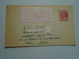 D179170 USA Stationery Uprated With Meter  1957 - LEMONT- Argonne N.L. -Walter C. Quevedo  To Dr. Denis Kertesz -Rome - 1941-60