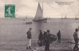 Grandcamp-les-bains, Arrivée Des Picoleurs, Bord De Plage, Voiliers, Barques, Animée - Altri Comuni