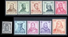 Belgique 1940 Yvert 527 - 593 / 601 ** TB - Unused Stamps