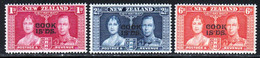 Cook Iles 1937 Yvert 56 / 58 ** TB Bord De Feuille - Cook Islands